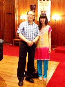 With harpist Noel Wan