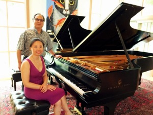 With Dr. Clara Yang at Bronson Piano Studio 2015