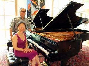 With Dr. Clara Yang at Bronson Piano Studio 2015